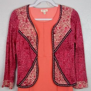 AEO Boho Embroidered Floral Spring Cardigan